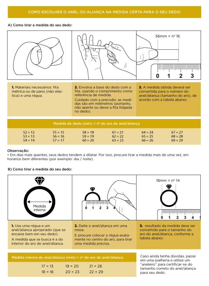 be11c1455 Com saber o tamanho do anel  – Gold Alianças